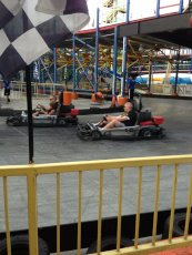 Adoptive Family Photo: Family Go Kart Race in Gatlinburg, click to view bigger version