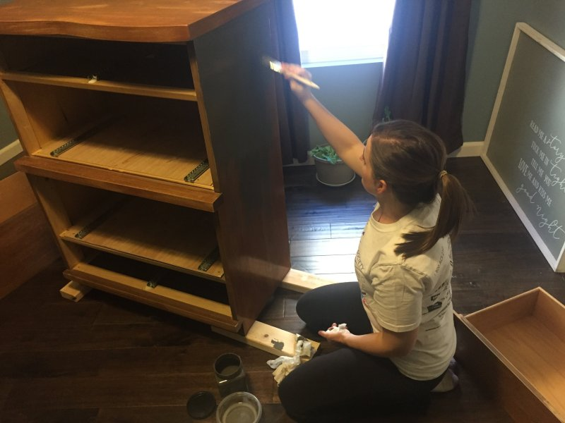 Refinishing a Dresser for the Nursery