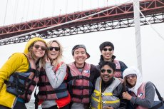 Adoptive Family Photo: Sailing With Friends