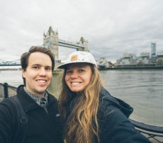 Adoptive Family Photo: Posing With Tower Bridge in London
