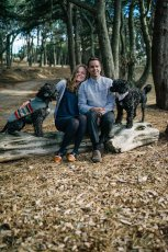 Adoptive Family Photo: Walking With Our Pups