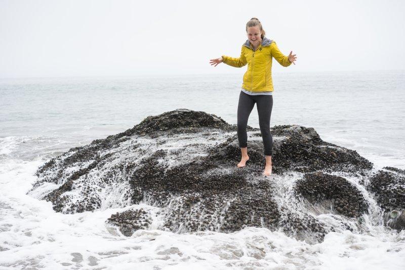 Getting a Surprise Splash at Muir Beach