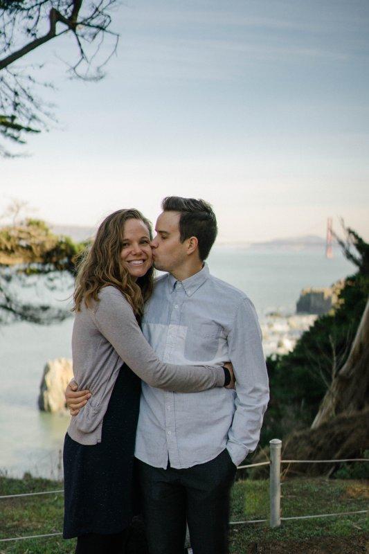 A Quick Kiss in San Francisco