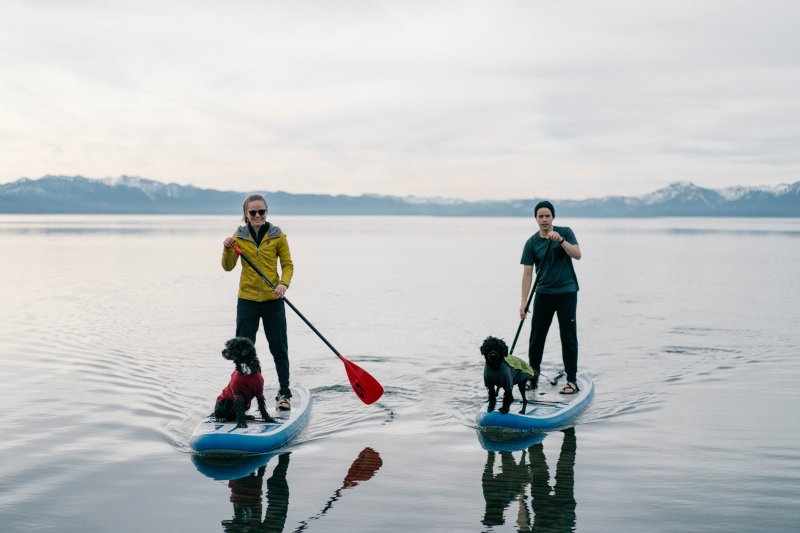 Paddleboarding at Lake Tahoe