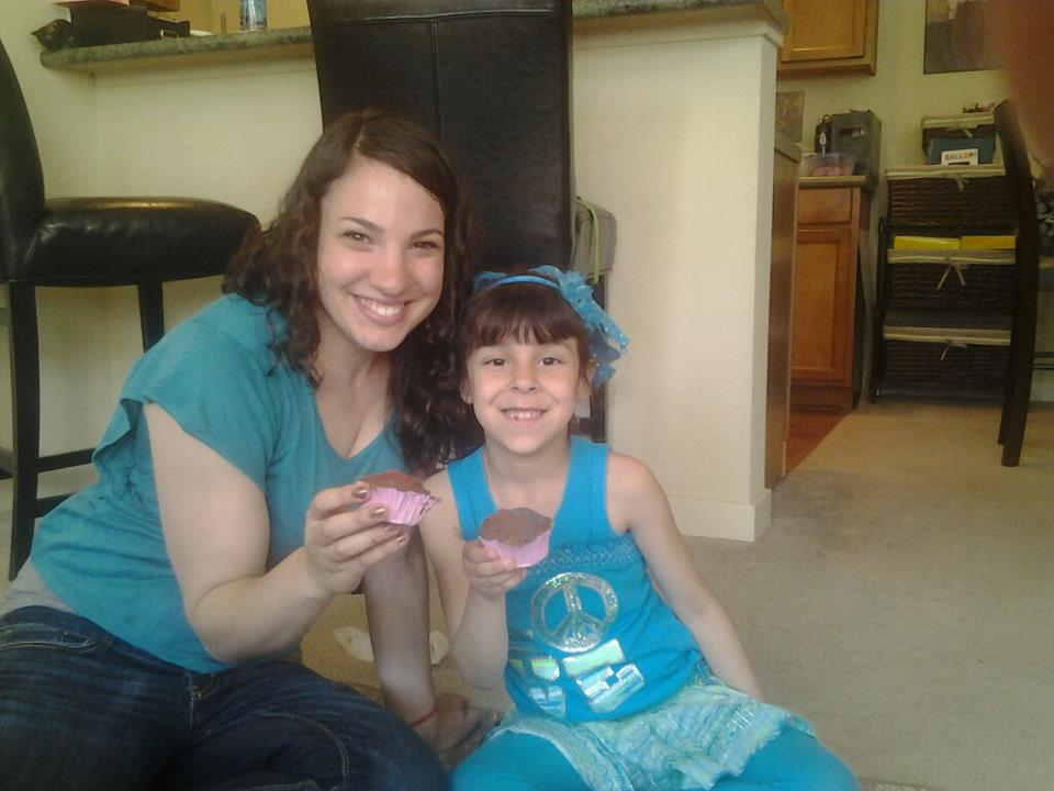 Baking Cupcakes with Our Friend's Daughter