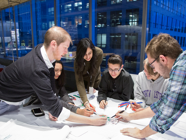 Kyle Mentors High Schoolers Interested in Architecture Careers