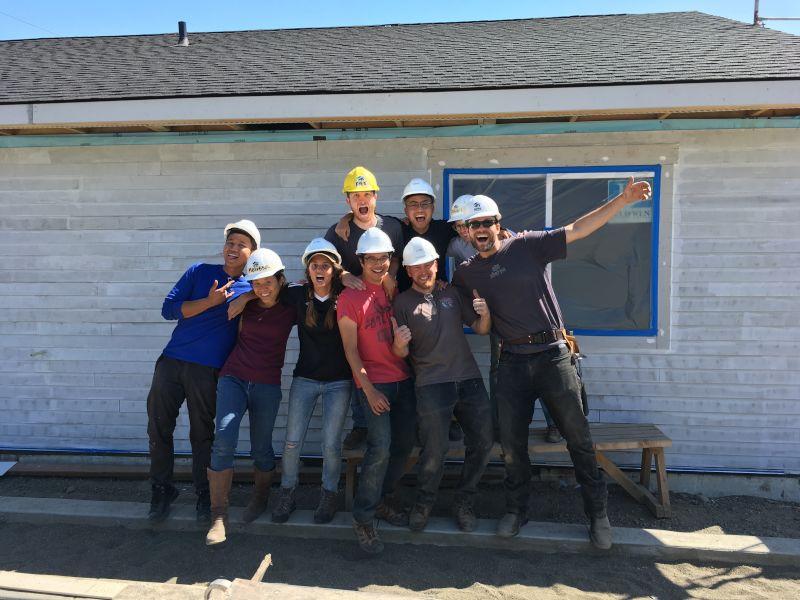 Kyle Volunteering at Habitat for Humanity
