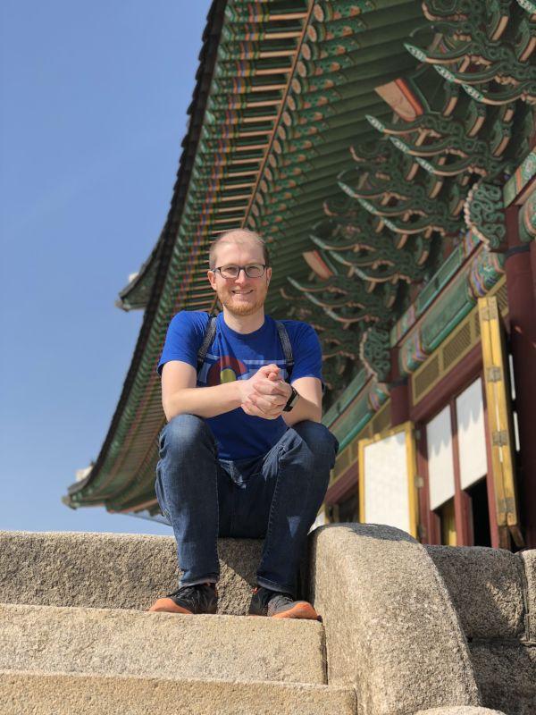 Kyle at a South Korean Palace