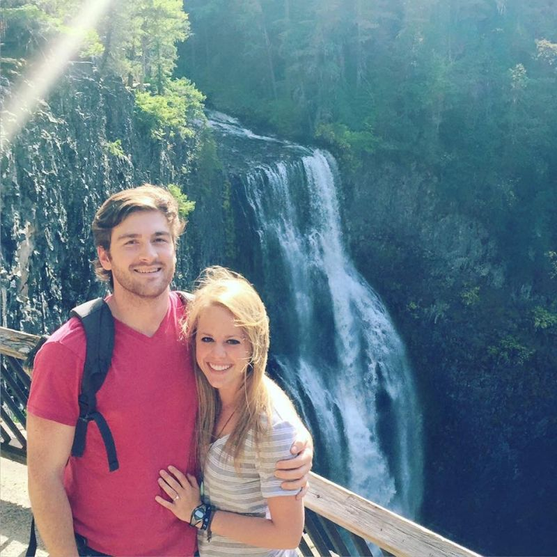 Checking Out a Beautiful Waterfall in Oregon