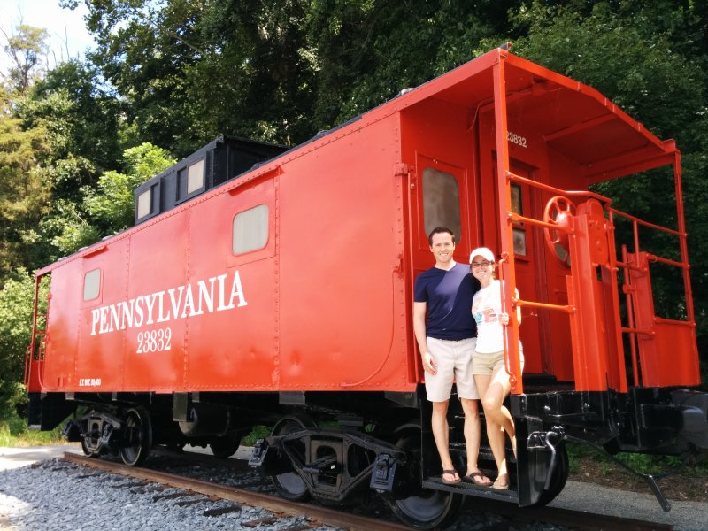 Taking a Picture With Every Caboose We Come Across Has Become a Tradition