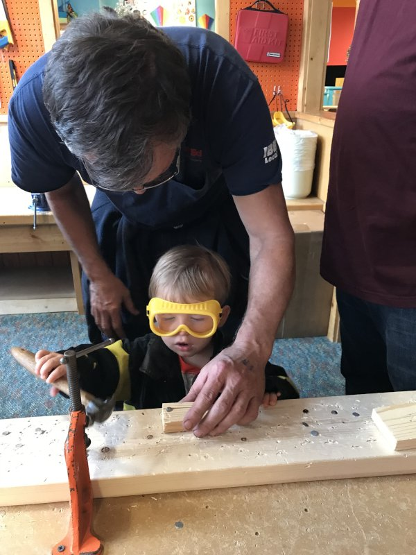 Working With Papa Ray at the Children's Museum