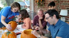 Adoptive Family Photo: Pumpkin Carving for Halloween, click to view bigger version