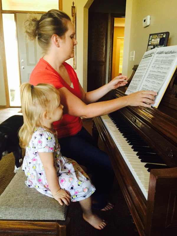 Ginny & Her Sweet Friend at the Piano