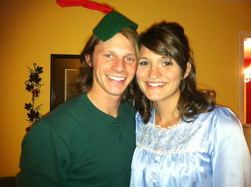 Dressed Up as Peter Pan and Wendy for Halloween