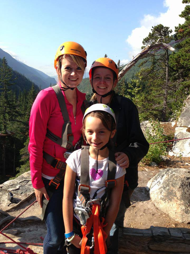 Ziplining with Her Sister and Niece