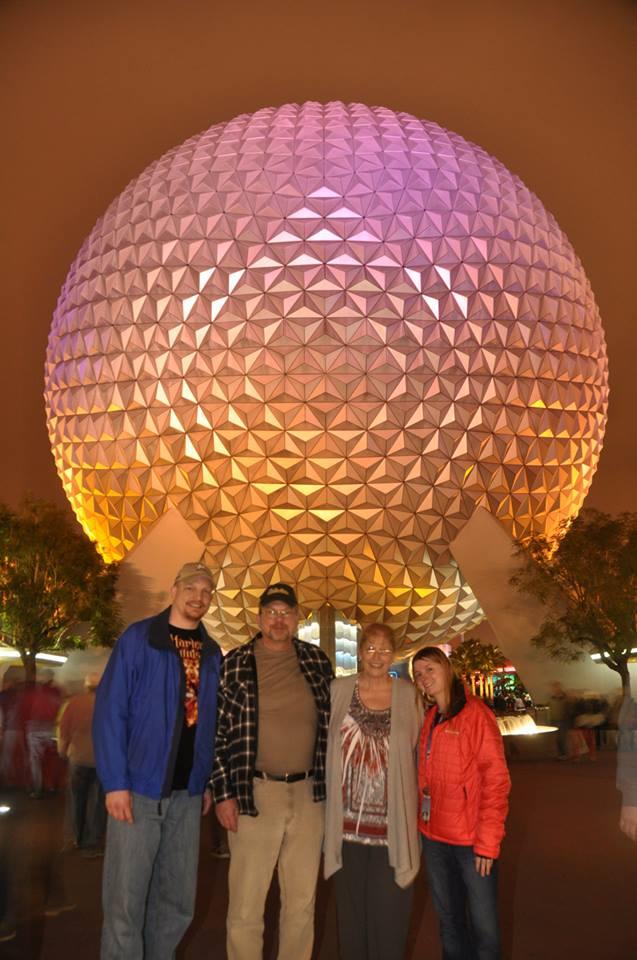 Epcot with James' Parents