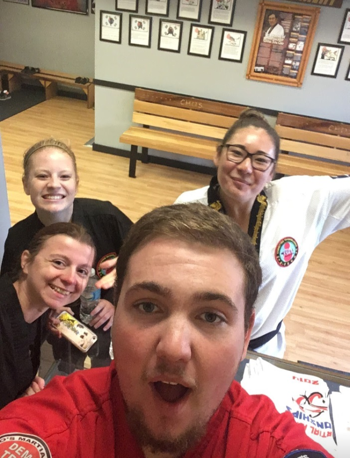 Kristin with Her Tae Kwon Do Friends