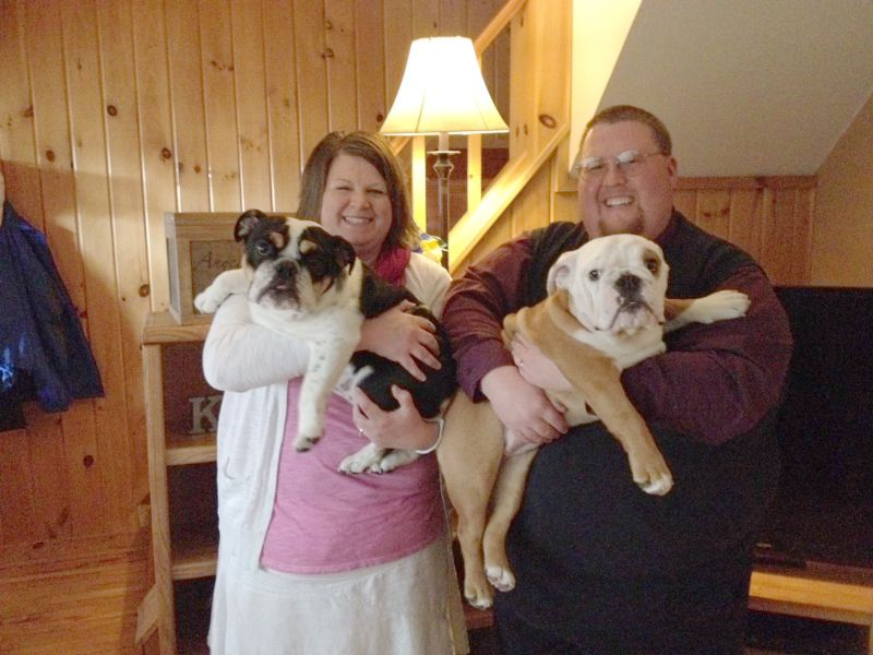 With Our English Bulldogs, Rosie & Lily