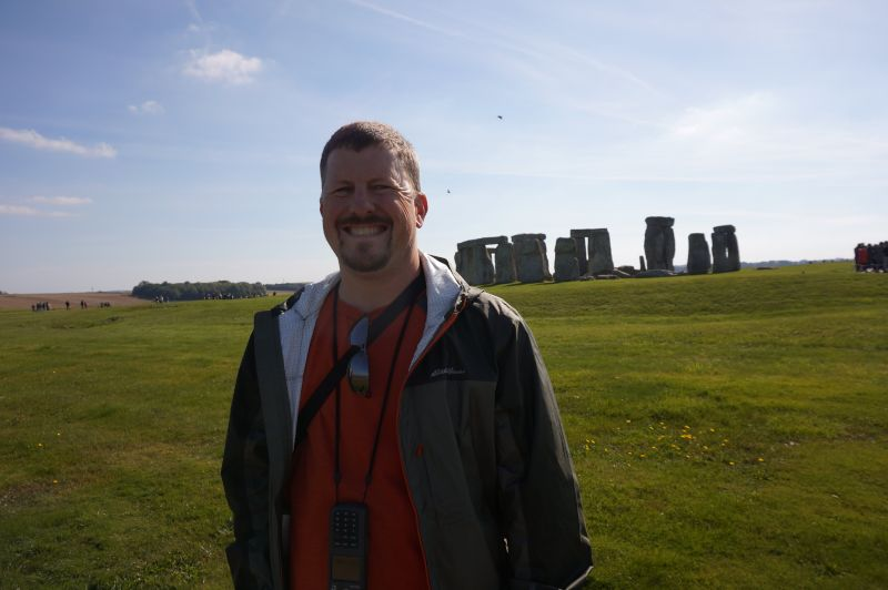 John Checking Out Stonehenge