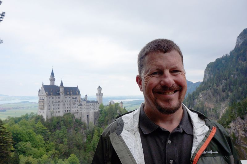 John at the Fairytale  Neuschwanstein Castle in Germany