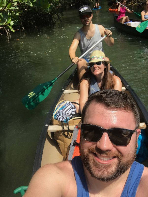 Curtis Kayaking in Miami With Friends