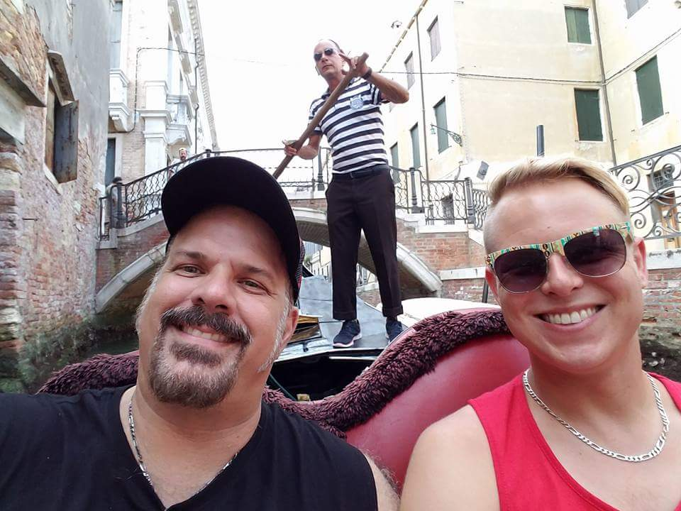 Riding a Gondola in the Canals of Venice