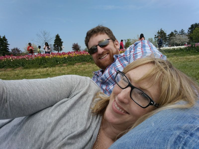 At the Spring Tulip Festival