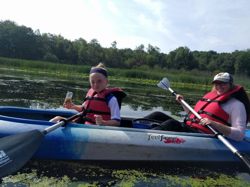 Heather Kayaking with Our Niece