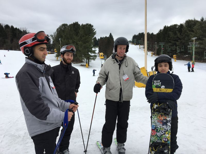 Skiing With Our Nephew