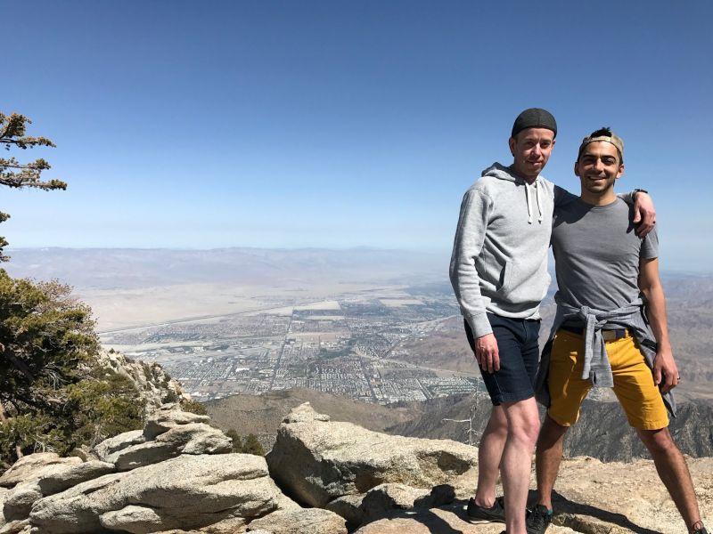 Enjoying a Scenic Mountain Top