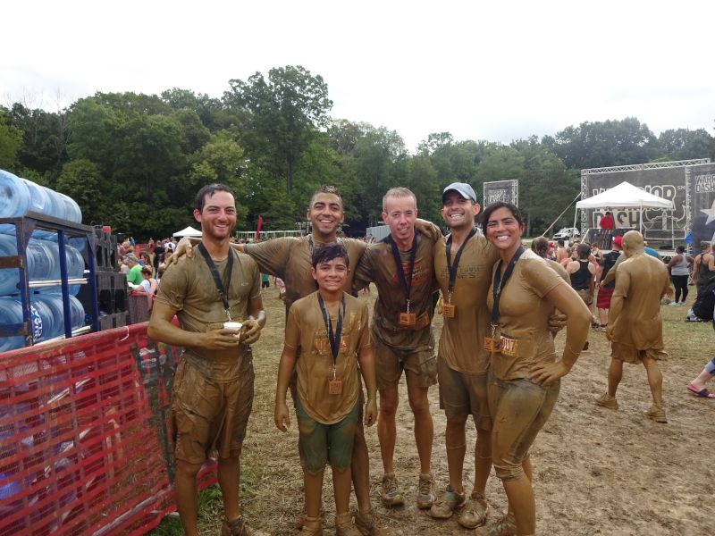 Warrior Dash With OUr Siblings & Nephew