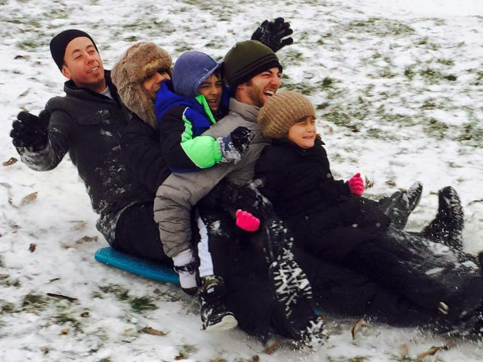 Sledding With Family