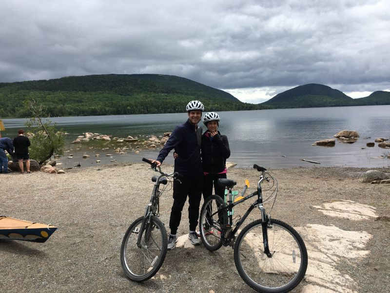 Biking in Acadia National Forest