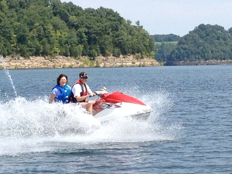 Greg & His Mom Having Fun on the Lake