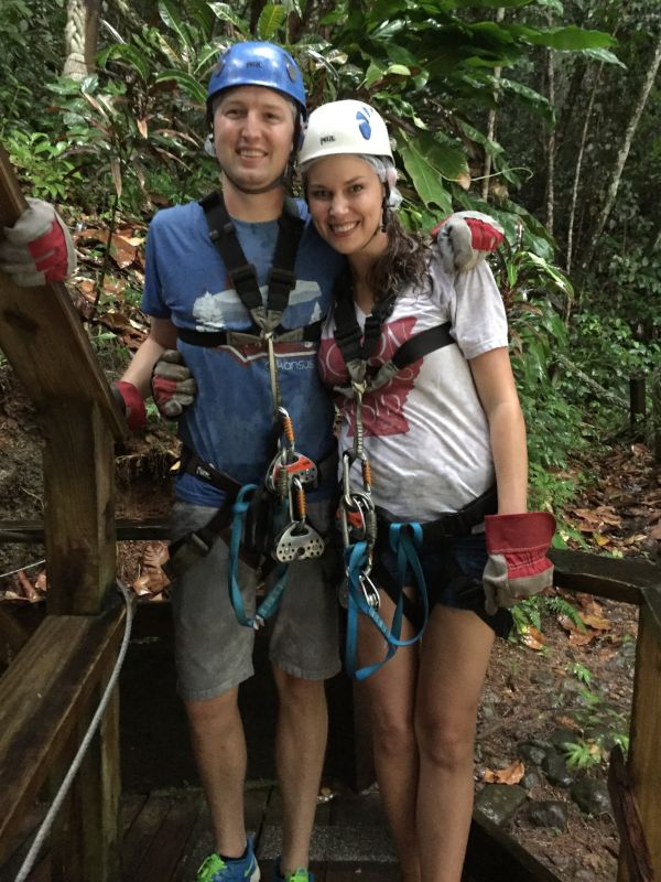 Ziplining Through a Rain Forest