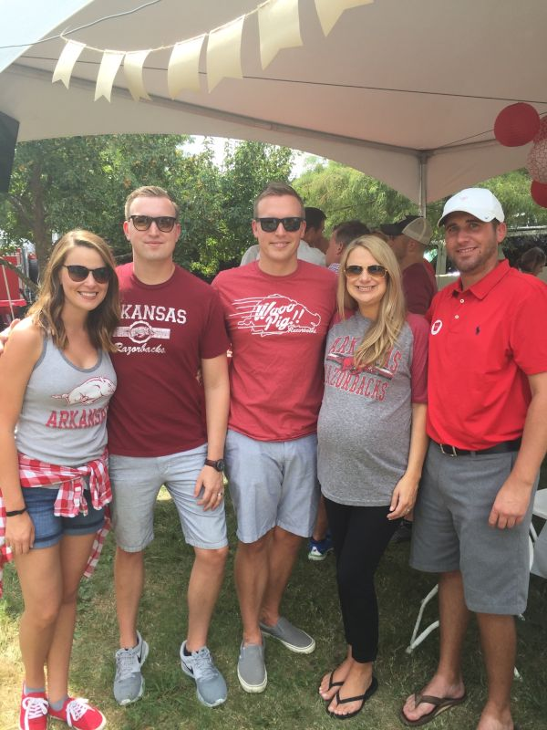 Cheering on the Hogs with Family and Friends