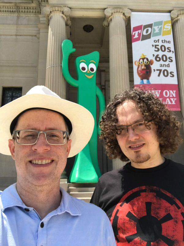 At the Museum With Gumby