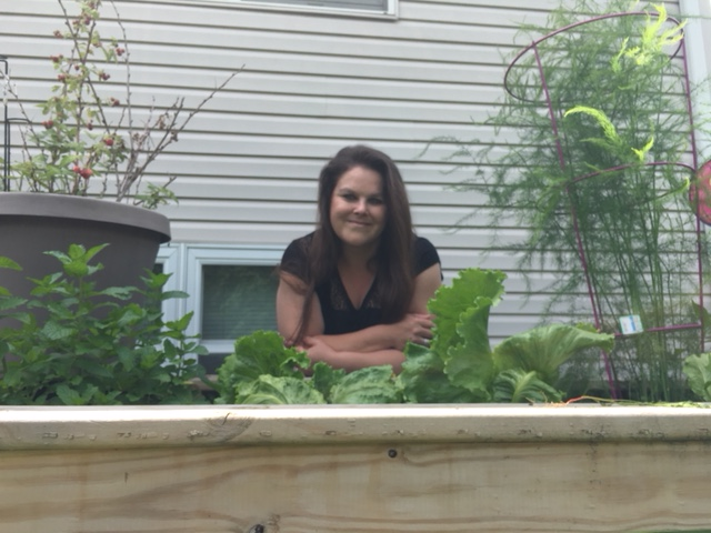 Tracy in Her Garden