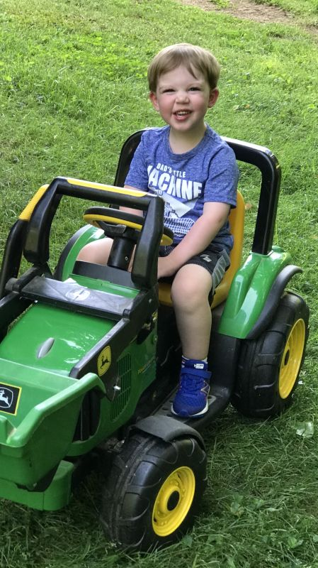 Avery Loves His Tractor!