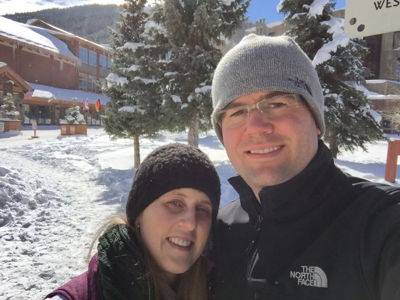 Enjoying a Sunny Day on Our Trip to Colorado