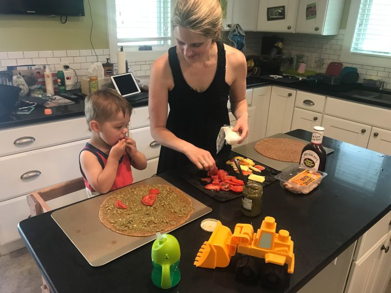 Making Pizzas for Dinner