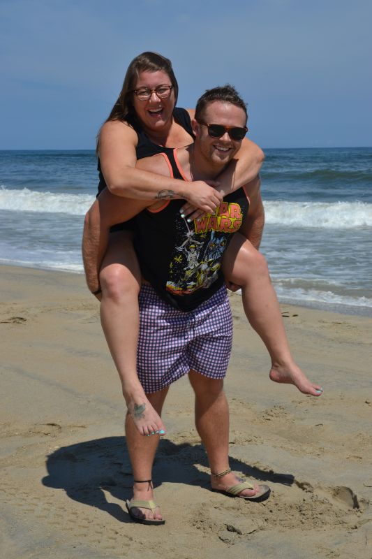 Piggyback Ride at the Beach