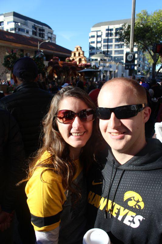 At the Rose Bowl Parade