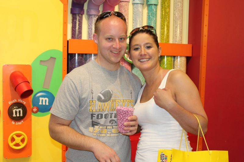 Stocking Up at the M&M Store