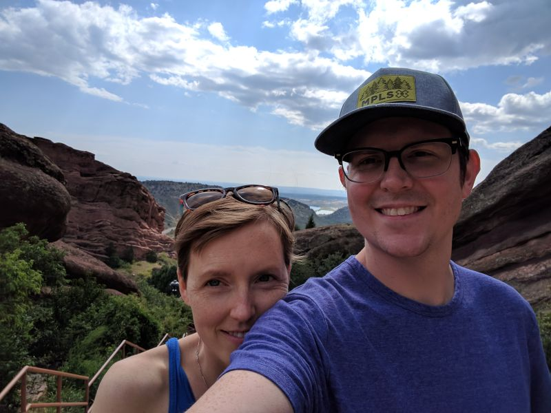 Red Rocks Selfie in Colorado