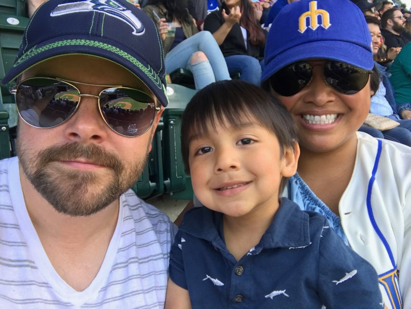 Mariners Game With Our Nephew