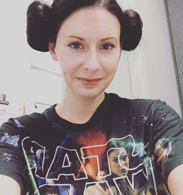 Trenae Dressed as Princess Leia for Spirit Week With Her Students