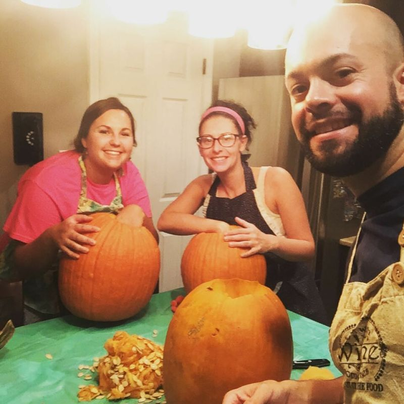 Annual Pumpkin Carving Tradition With Steffan's Cousin