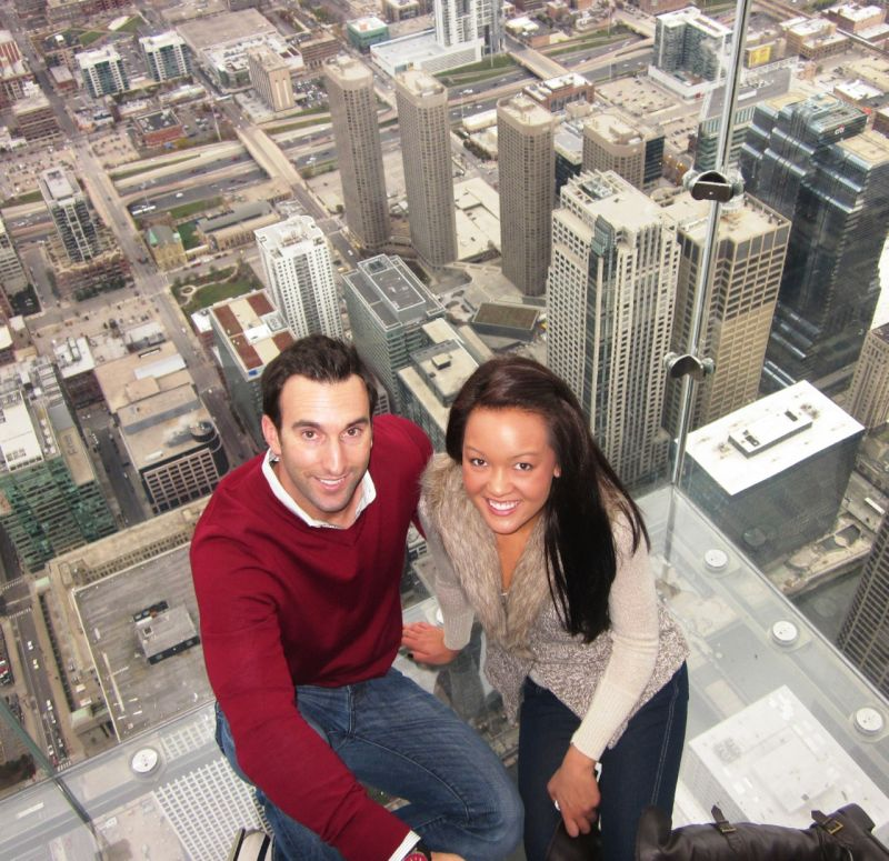 Checking Out the View at Willis Tower