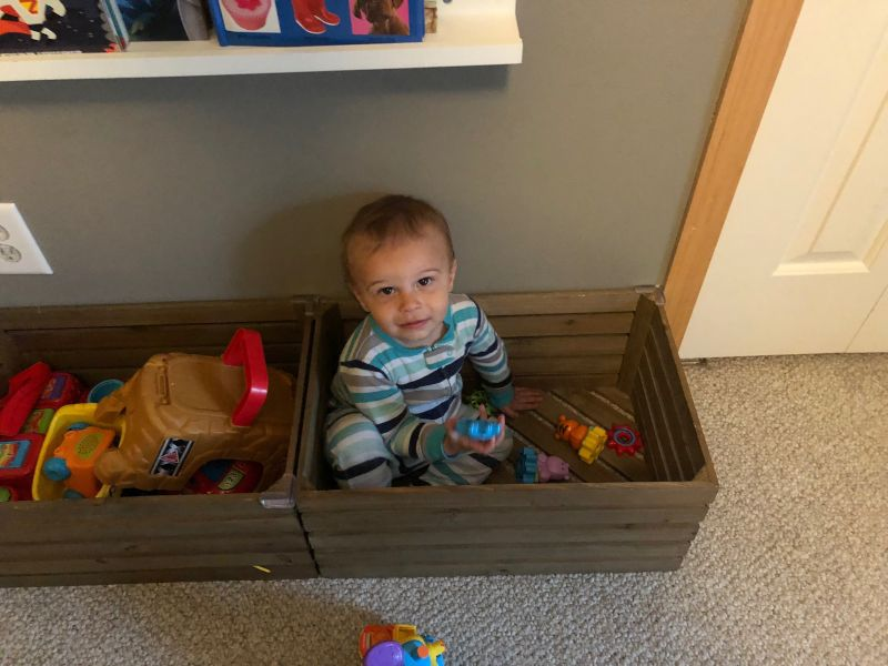 Playing in the Toy Box